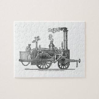 Early Steam Train Locomotive Jigsaw Puzzle