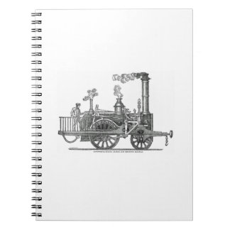 Early Steam Train Locomotive Notebook