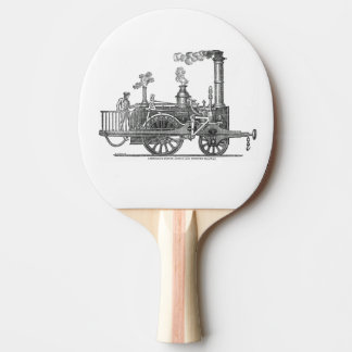 Early Steam Train Locomotive Ping Pong Paddle