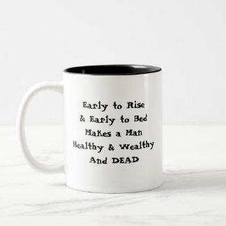 Early to Rise. Two-Tone Coffee Mug