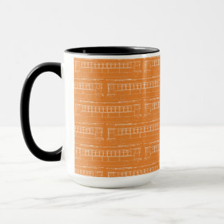 early  TROLLEY TRAIN STREETCAR white + YOUR COLOR Mug