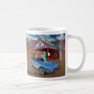 EARLY VETTE AT OLD GAS STATION COFFEE MUG