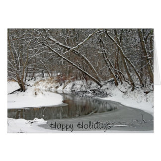 Early Winter At Petrifying Springs Card