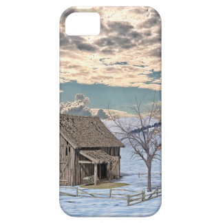 Early Winter Barn Scene iPhone 5 Cover