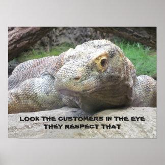Earn Customer Respect - Employee Motivational Poster