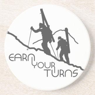 Earn Your Turns Coaster