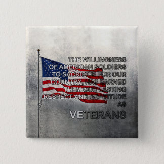 Earned Gratitude Veterans Day Button