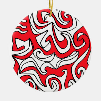 Earnest Encouraging Dynamic Respected Round Ceramic Ornament