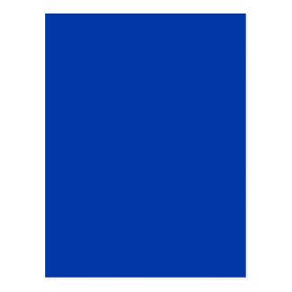 Earnestly Stately Blue Color Postcard