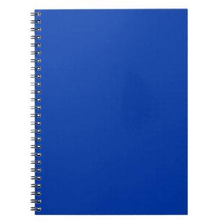 Earnestly Stately Blue Color Spiral Notebook