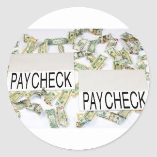 Earning to Pay Round Sticker