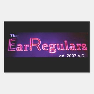 EarRegulars rectangular sticker