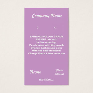 EARRING Cards Custom business cards