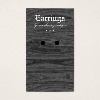 Earring Display Cards Oak Wood Jewelry Black