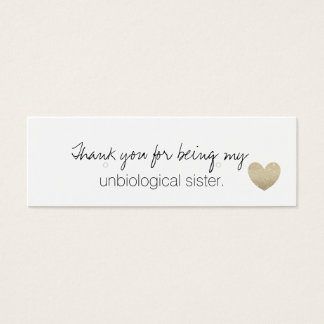 Earring Holder/Thank You - Unbiological Sister Fab Mini Business Card