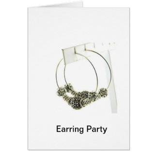 Earring Party Greeting Card