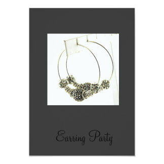 Earring Party Invitation