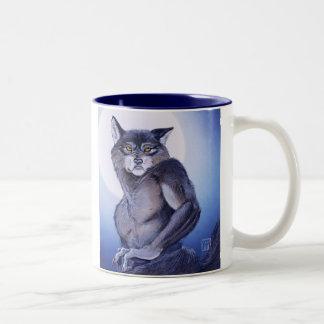 Ears of the Werewolf Two-Tone Coffee Mug