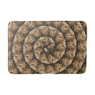Ears Of Wheat In A Abstract Spiral Pattern, Bath Mat