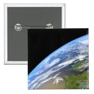 Earth 10 2 inch square button