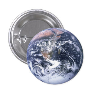 Earth 1 Inch Round Button