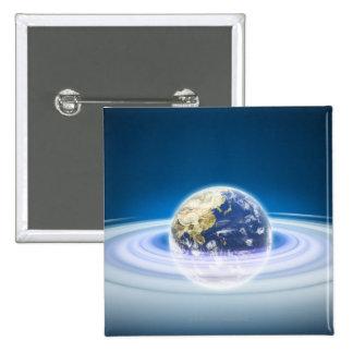 Earth 2 Inch Square Button