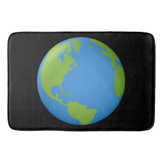 Earth 3D Classic Bath Mat