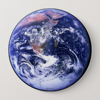 Earth 4 Inch Round Button