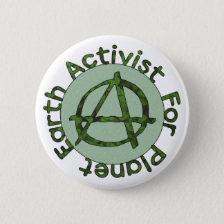 Earth Activist 2 Inch Round Button