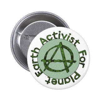 Earth Activist 2 Inch Round Button