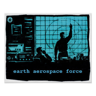 Earth Aerospace Force: Control room Poster