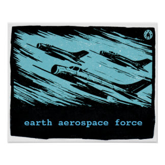 Earth Aerospace Force: Jets Poster