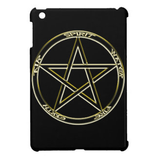 Earth, Air and Fire Pentagram iPad Mini Covers