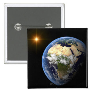 Earth and a Bright Star 2 2 Inch Square Button
