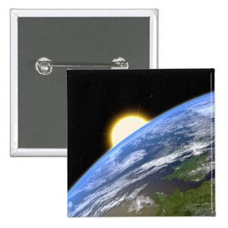Earth and a Bright Star 2 Inch Square Button