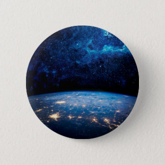 Earth and Galaxy 2 Inch Round Button