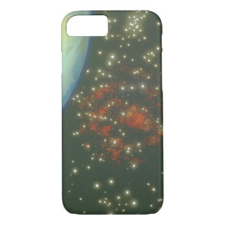 Earth and Galaxy. (earth;galaxy_Space Scenes iPhone 7 Case