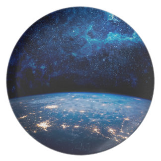 Earth and Galaxy Party Plates