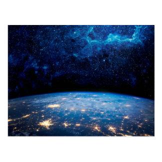 Earth and Galaxy Postcard