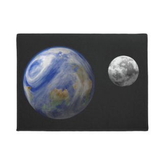 EARTH AND MOON DOORMAT