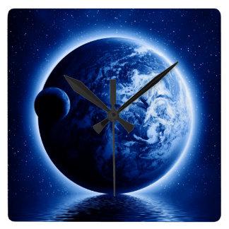 Earth and Moon Fantasy Wall Clock