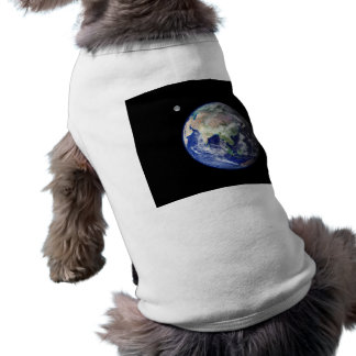 Earth and Moon from Space Pet T Shirt