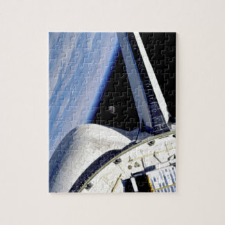 Earth and Moon from Space Shuttle Discovery Jigsaw Puzzle
