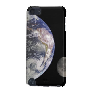 Earth and Moon in Space Custom iPod Touch Case