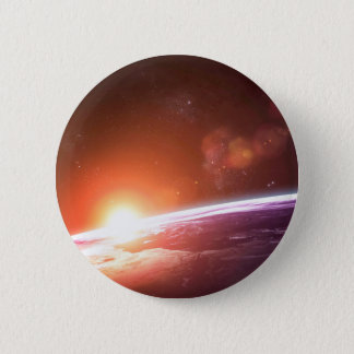 Earth and Rising Sun 2 Inch Round Button