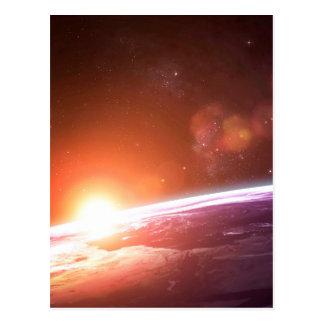 Earth and Rising Sun Postcard