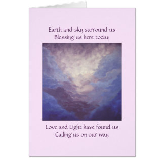 Earth and Sky, Mountain and Clouds Card