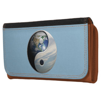 Earth and Sky Yin Yang Leather Wallet
