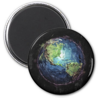 Earth And Space 2 Inch Round Magnet