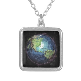 Earth And Space Silver Plated Necklace
